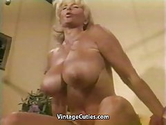 Fun at home XXX muscular milf strips for wanker
