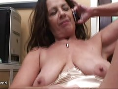 Tennis player with big Tits American Granny black rod hard flooding Busty pussy