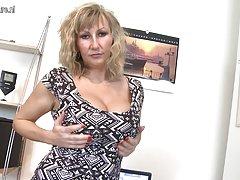 Bikini pubic Busty mother of the Nazi midget